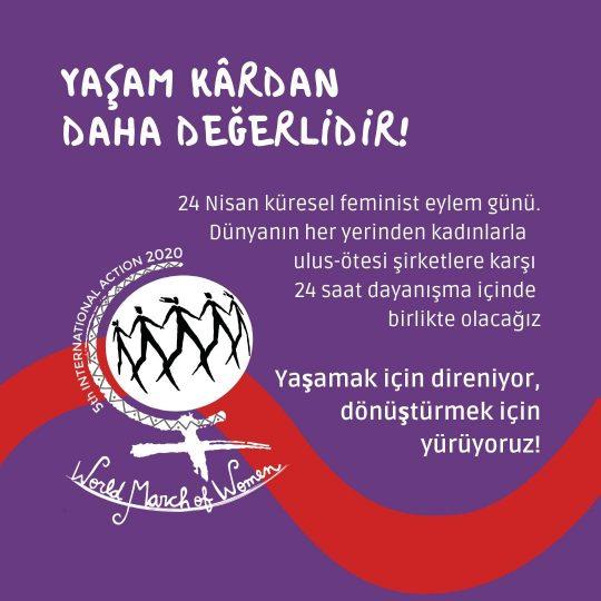 24 Nisan – Ulusötesi Şirketlere Karşı 24 Saat Feminist Dayanışma