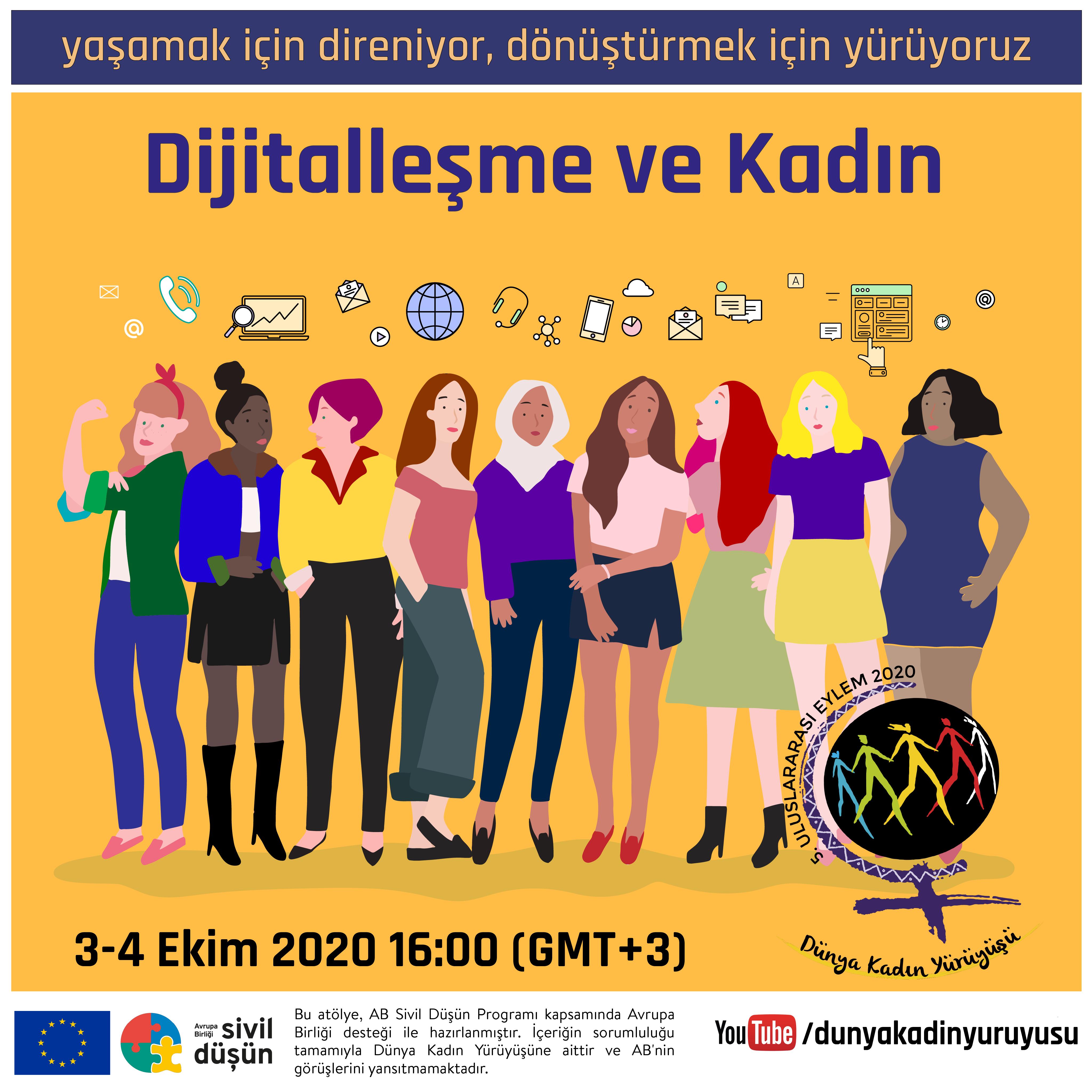 3-4 Ekim Uluslararası Dijitalleşme ve Kadın Atölyesi